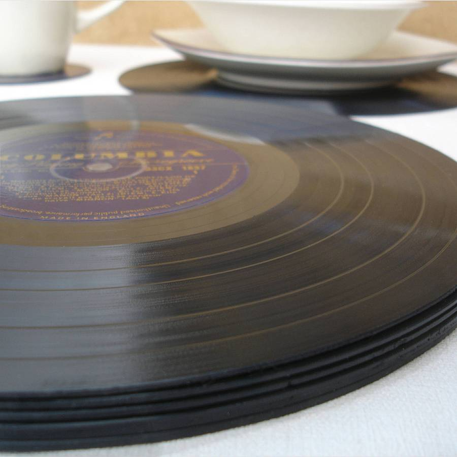 Vinyl Record Placemats Made By Old Lp S By Vinyl Village