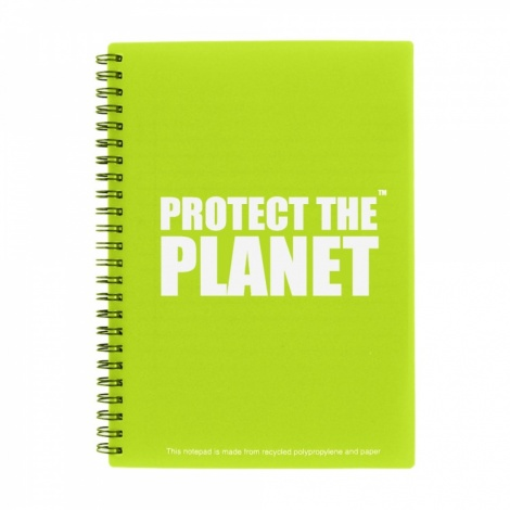 A5 Green Recycled Packaging Notepad