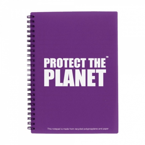 A5 Purple Recycled Packaging Notepad