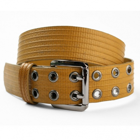 Big Yellow Recycled Fire Hose Belt