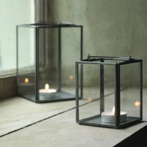 Recycled Glass Box Lanterns
