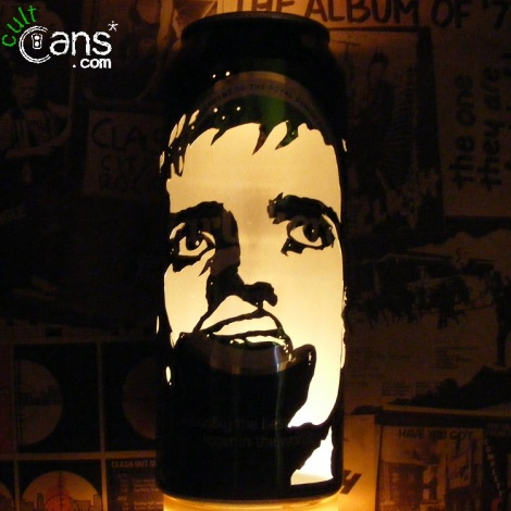 Ian Curtis Beer Can Lantern