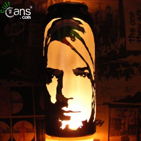 Kurt Cobain Beer Can Lantern