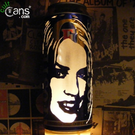 Kylie Minogue Beer Can Lantern