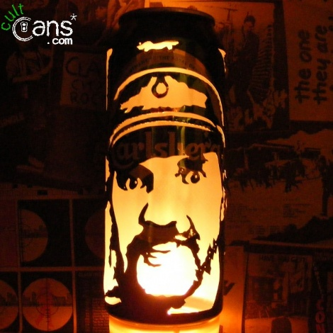 Lemmy Kilmister Beer Can Lantern