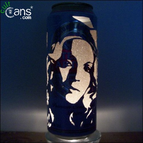 Madonna Beer Can Lantern