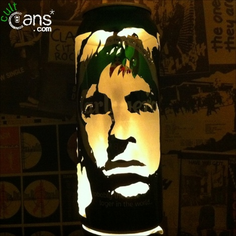 Noel Gallagher Beer Can Lantern