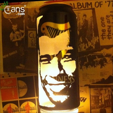 Paul McGrath Beer Can Lantern