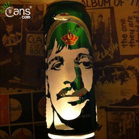 Ringo Starr Beer Can Lantern