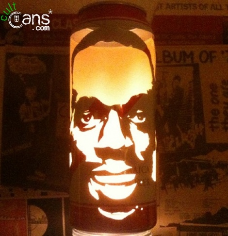 Usain Bolt Beer Can Lantern