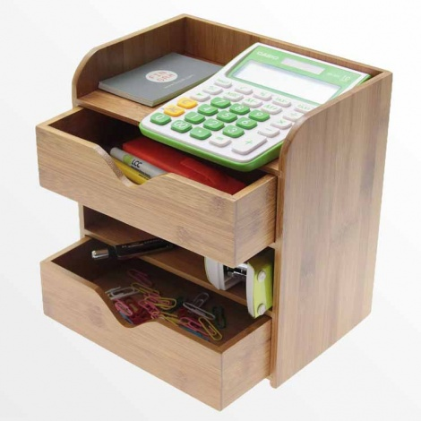 Bamboo Four Tier Desk Organiser
