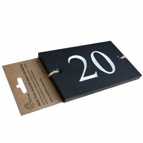 Recycled House Numbers Plaque