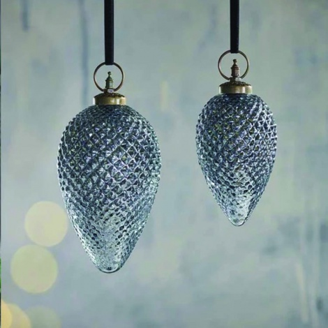 Harini Antique Blue Giant Baubles