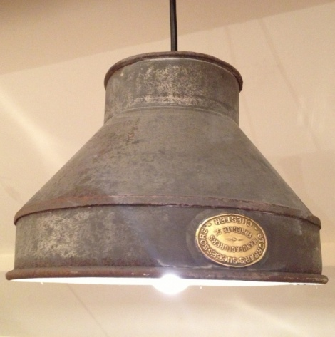 Vintage Milk Sieve Light Pendant