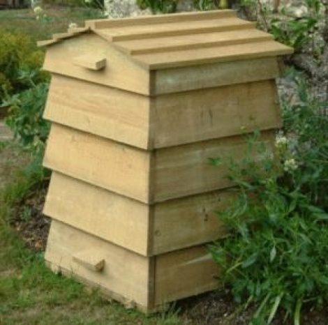 Wooden Beehive Composter