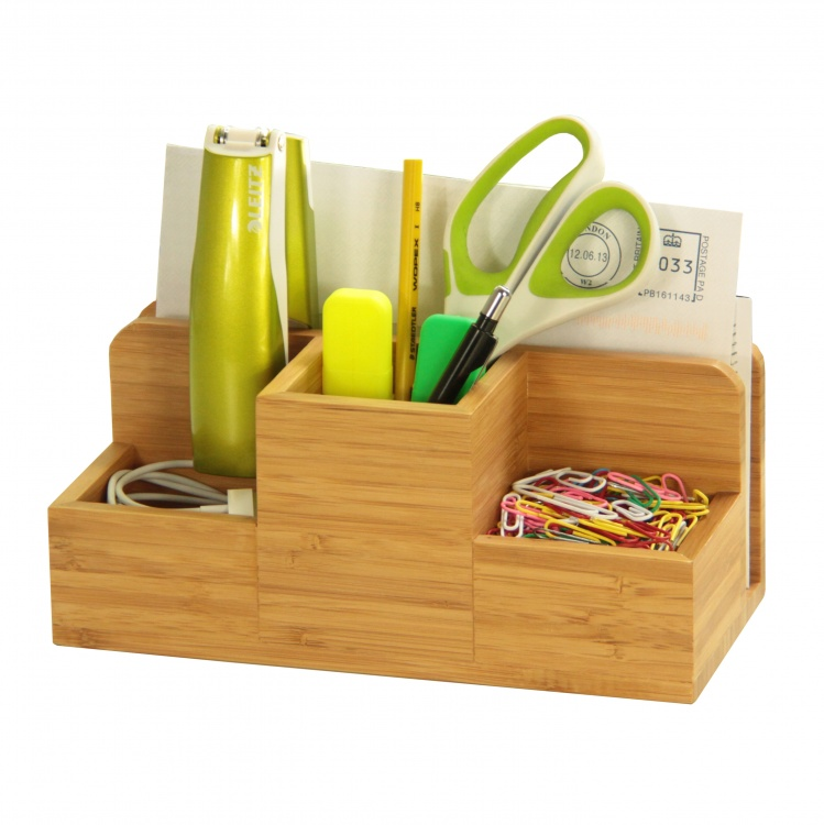Bamboo Desk Organiser by Woodquail | Eco Gifts