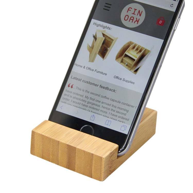 Bamboo Phone Holder by Woodquail | Eco Gifts