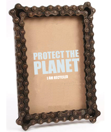 Fairtrade Bike Chain Photo Frame | Eco Gifts