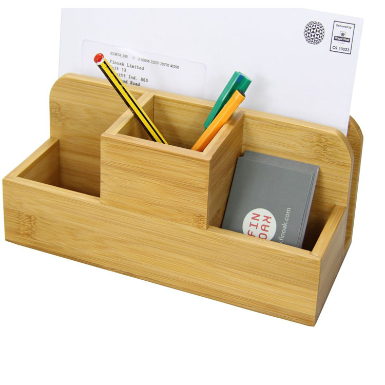 Bamboo desk organiser by woodquail eco gifts - Bamboo desk organiser ...