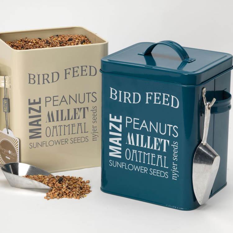 Bird feed storage tin by burgon ball eco gifts for Bird feed tin