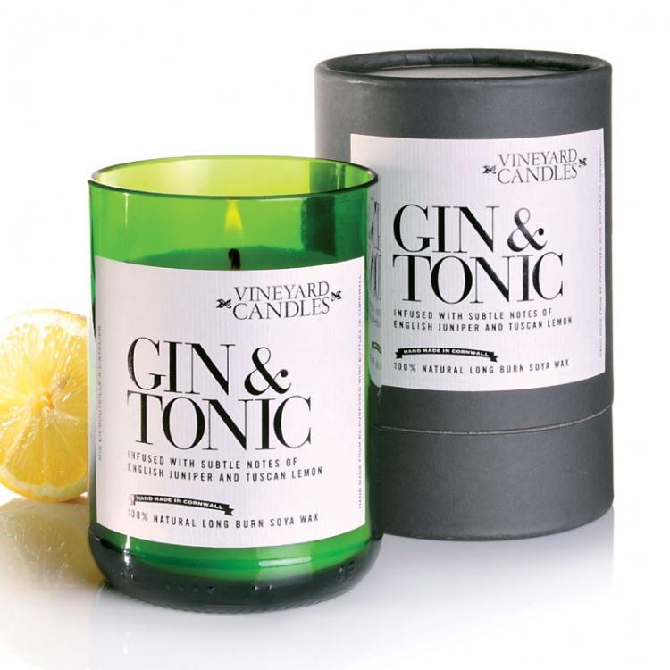 Gin Tonic Vineyard Candle Eco Gifts