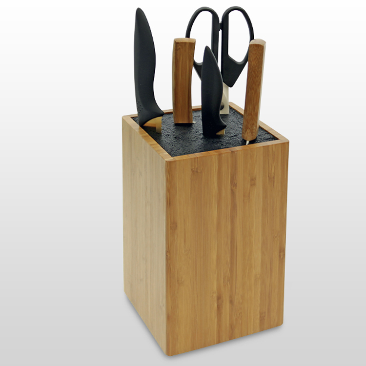 wooden knife block by woodquail eco gifts