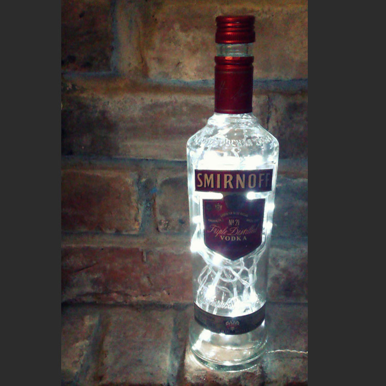 Smirnoff Vodka Bottle Lamp