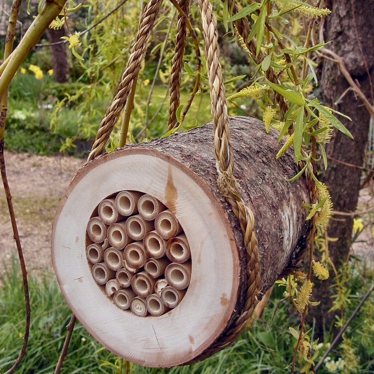 Hanging Pollinating Bee Log By Wildlife World Eco Gifts