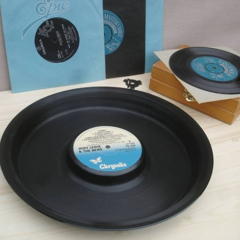 Recycled Vinyl Serving Party Tray