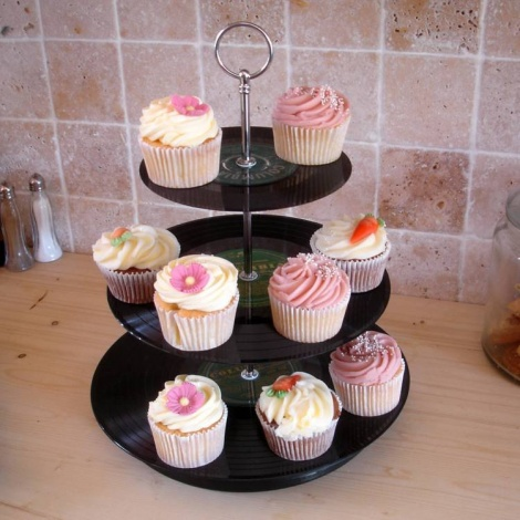 Tiered Cake Stand made of Vinyl's