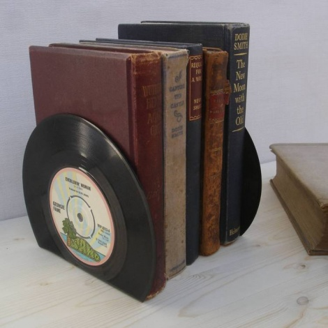 Small Vinyl Bookends