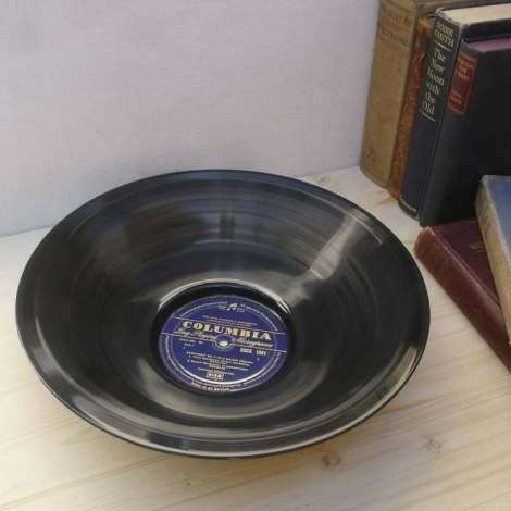 Large Vinyl Record Bowl