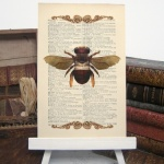Bumble Bee Upcycled Paper Print