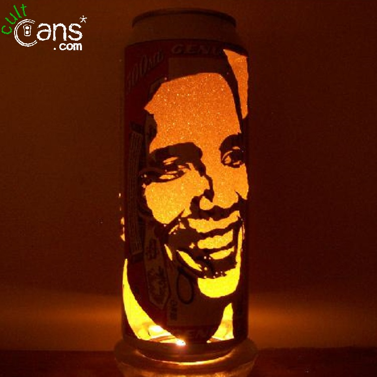 Barack Obama Beer Can Lantern