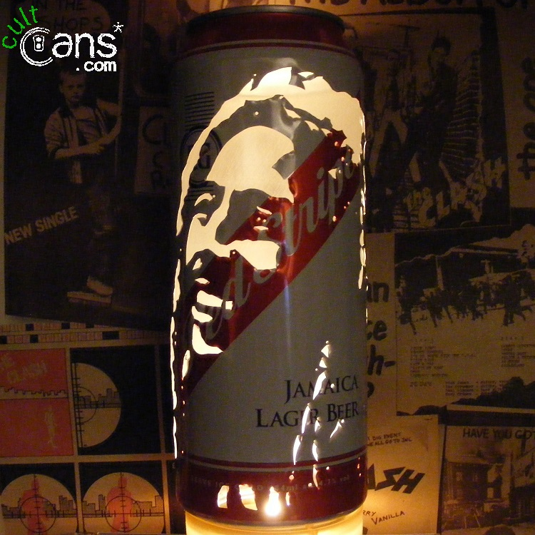 Bob Marley Beer Can Lantern
