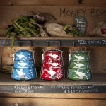 Eva Hand Painted Tiffin Storage Tins