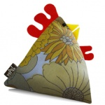 Milton Vintage Fabric Chicken Doorstop