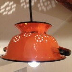 Enamel Colander Light Pendant