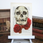 Skull & Roses Roo Abrook Print