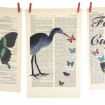 Roo Abrook Stork & Butterfly Print