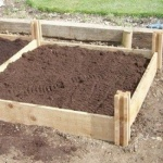 Standard wooden raised bed