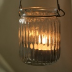 Hanging Jar T Light Holder