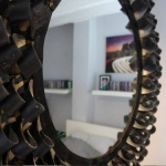 Recycled Round Tyre Mirror