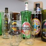 Becks Beer Bottle Glasses