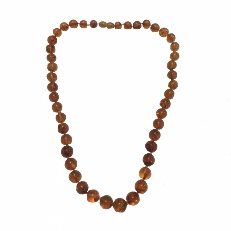 Round Amber Bead Necklace