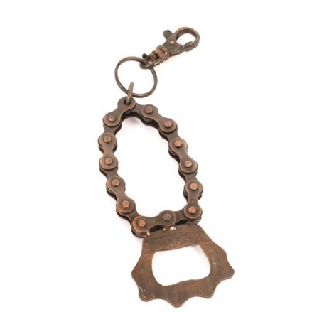 Recycled Bike Chain Keyring
