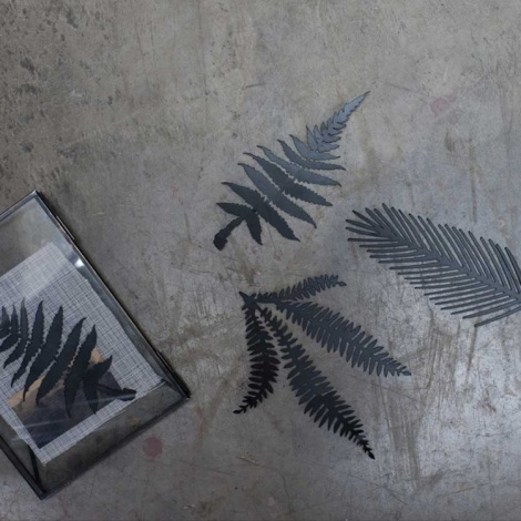 Kiko Black Foliage Artwork - Set Of 3