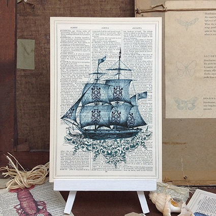 Blue Ship Roo Abrook Print