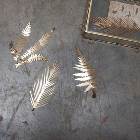 Kiko Brass Foliage Artwork - Set Of 3