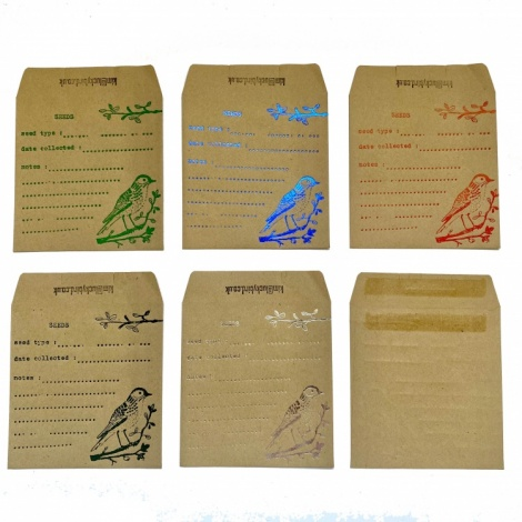 Brown Seed Storage Envelopes